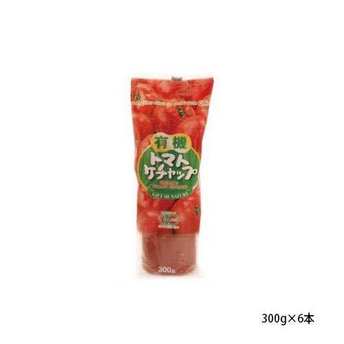 純正食品マルシマ 有機 トマトケチャップ チューブ入 300g×6本 1785