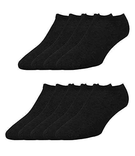 ELBEO Herren Sneaker-Socken Freizeitsocken 906609 9 Paar, Farbe:Schwarz, Menge:9 Paar (3x 3er Pack), Größe:43-46, Artikel:-9500 schwarz