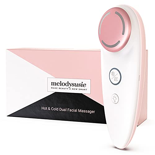 MelodySusie Hot & Cold Dual Facial Massager for Skin Smoothing and Facial Toning, Portable Rechargeable Waterproof Electric Anti-Aging Skin Care Device At-Home