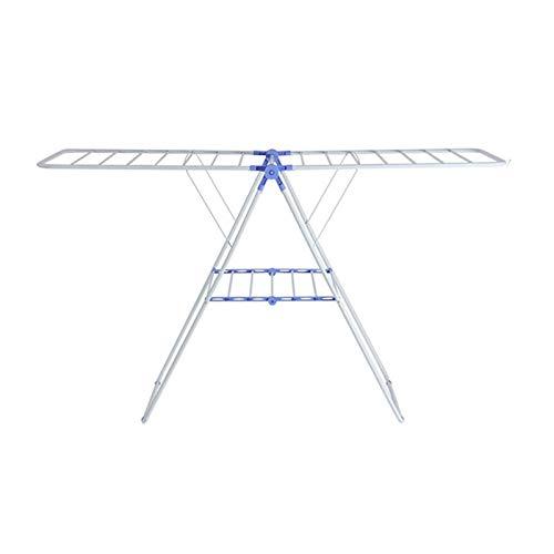 FINDYU Casa Tendedero, Tendedero Plegable Superficie Sustentadora Grande De Múltiples Fines De Pie, Azul + Blanco Drying Rack
