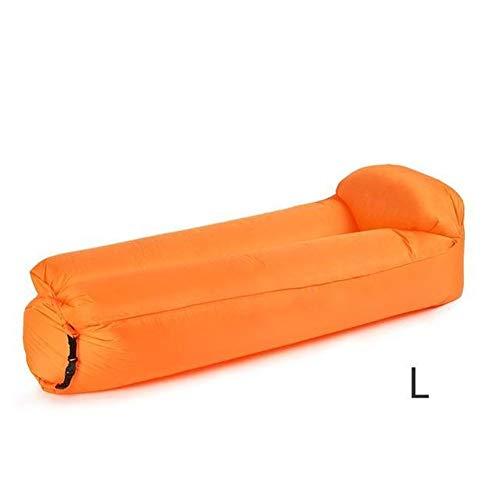 Anxia Schnell aufpumpen Sofa reissfest aufblasbares Bett Folding aufblasbaren Stuhl Faule aufblasbares Bett Comfort Schlafsofa (Color : Orange 180 70 52cm)