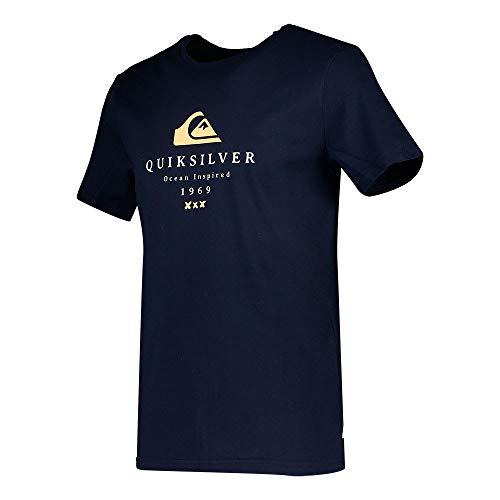 Quiksilver First Fire tee M Camiseta, Hombre, Azul (Navy Blazer), S