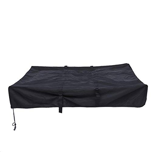 Viviance Waterproof Roof Rack Top Tent Travel Cover Black For Camper Trailer Camping 143X120X28Cm