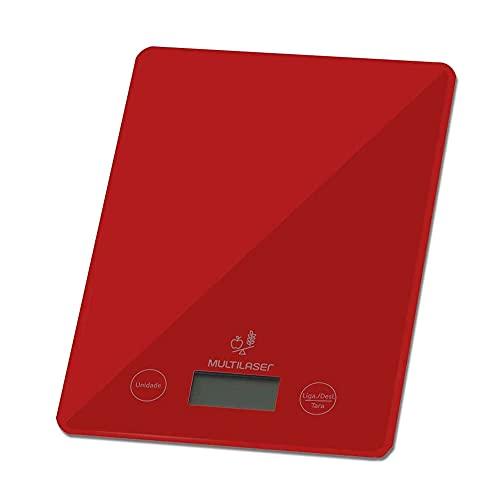 Balanca Eletronica Ate 5Kg Ce118 Vermelha, Multilaser, 32824, Multicor