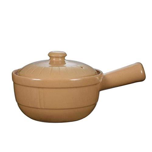 Hizljj - Cacerola de cocina clásica con tapa de cerámica duradera para horno a mesa, lavavajillas, microondas y congelador