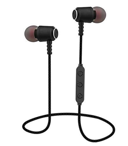 Premium Bluetooth In-Ear Kopfhörer Headset Sport kompatibel mit Huawei Samsung LG Farbe Schwarz