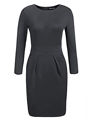 ACEVOG Women's Official Wear to Work Retro Business Bodycon Pencil Dress