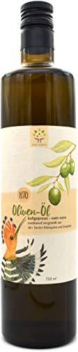 Bio-Olivenöl nativ extra 750 ml, traditionell hergestellt, kaltgepresst aus den Sorten Arbequina und Empeltre