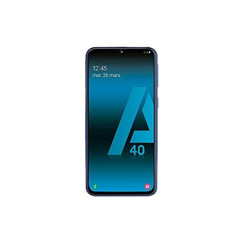 SAMSUNG GALAXY A40 Smartphone portable débloqué 4G (Ecran: 5, 9 pouces 64 Go Double NanoSIM Android) Bleu Version Française