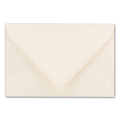 75x Brief-Umschläge 12 x 18 cm ca Din B6 mit Nassklebung- Creme- stabile 100 g/m² - Post-Umschläge, Brief-kuvert aus Feinst- Papier