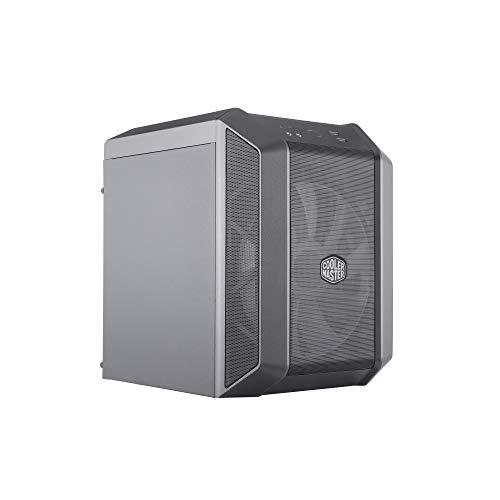 Cooler Master MasterCase H100 M-ITX - Funda para Mini Torre (Negro/Hierro), Color Negro y Gris