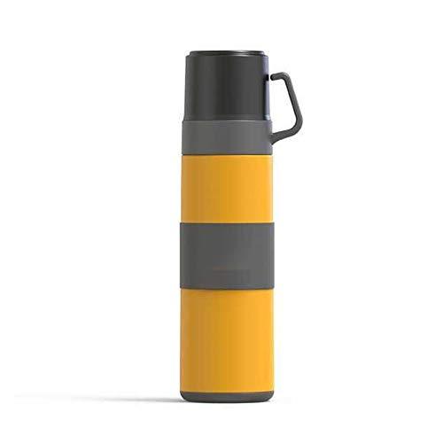 500ml Edelstahl Wasserkessel Leak Proof, Vakuum-Liner, Außensportflasche Hot for Cold- for Sport, Turnhalle, Schule, Reise, Kohlensäurehaltige Getränke, halten 12 Stunden Hot Proof (Color : Yellow)