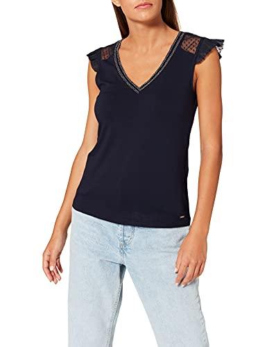Morgan T-Shirt 212-DUCHES Camiseta, Azul Marino, M para Mujer