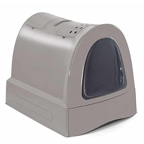 Imac Hygienic Tray Sandbox Cats - Vassoio sanitario Catera Sandbox Coperto Sandbox WC Gatti Zuma, 40 x 42,5 x 56 cm, Grigio