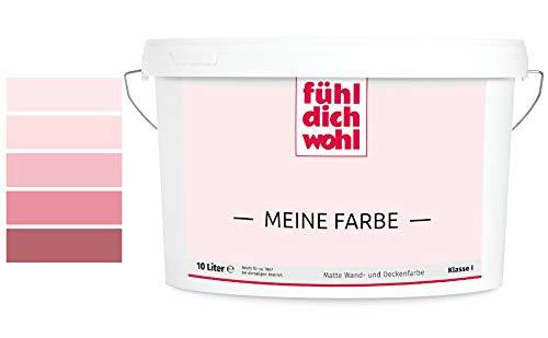 Fühl Dich Wohl Meine Farbe rosa, matte Wandfarbe rosa, hohe Deckkraft, verschiedene Rosafarbtöne zur Auswahl (2,5L, Japanrosa E1-41)
