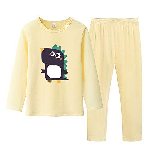 YYXDP Kinder-Baumwoll-Pyjama-Anzug Cartoon Zweiteiliges Pyjama-Homewear-Set,...