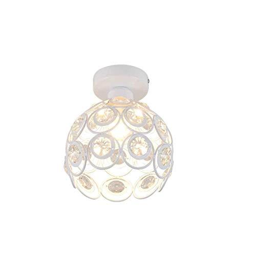 LIANGANAN Creativa Techo Lámpara- diseños Elegantes Forma de Cuenco de Montaje Empotrado Acabado en Cromo lámpara de Cristal Moderna, luz de Techo de Cristal for Dormitorio, salón zhuang94