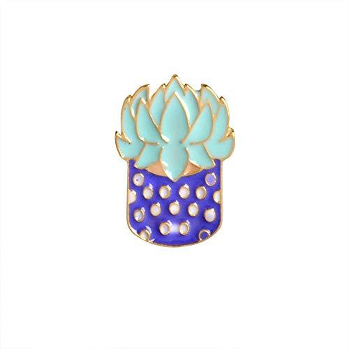 Cactus Plantas Suculentas Aloe Vera Plantas En Macetas Broche Pin Botón Abrigo...