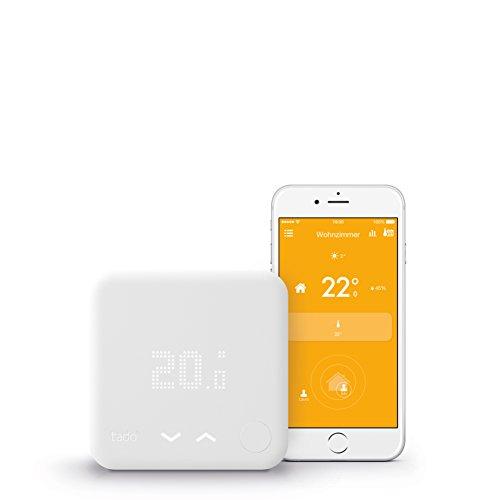 tado° Smartes Thermostat Starter Kit V3 für Wohnungen mit Raumthermostat - Intelligente Heizungssteuerung, kompatibel mit Amazon Alexa, Apple HomeKit, Google Assistant