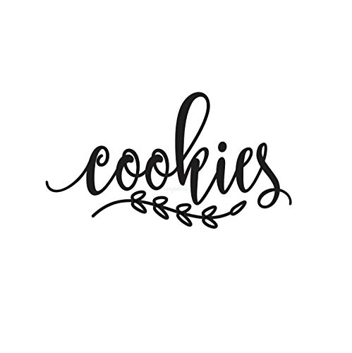 Wall Art Cookie Jar Decal, Computer Cut Vinyl, Keuken Pantry voedsel opslag Label, Cookie pot Sticker, Decal ALLEEN eenvoudig aan te brengen