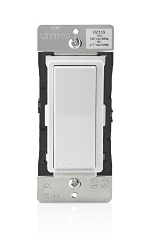 Leviton DZ15S Decora Smart Switch with Z-Wave Technology, Ivory, 1-Pack, White/Light Almond