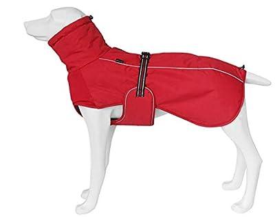 Geyecete Outdoor Chest strap Windproof warm jacket,Dog Winter Coat Outdoor sports suit Windproof clothes for pets,Pet Dog Warm Jacket Winter Clothing-Red-3XL plus 24Inch