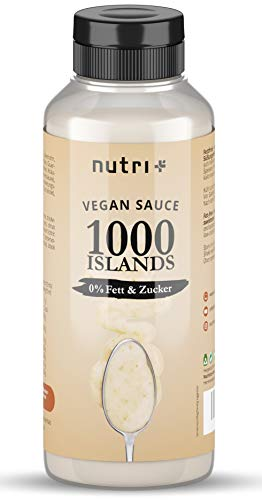 1000 ISLANDS Dressing light ohne Zucker + Fett - nur 2 Kalorie - Low Carb Salad Sauce Zero vegan - Zuckerfrei - Fettfrei - kalorienarm - Thousand Island Salatdressing / Salatsauce
