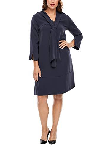 TRIANGLE Damen Kleid mit Schluppenkragen Navy 48