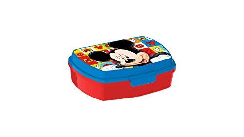 3588; Sandwichera Disney Mickey Mouse; producto reutilizable; No BPA; ideal para el cole