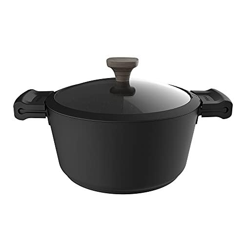 Cecotec Olla Polka Excellence 24 Pot Force. Diámetro 24 cm, Aluminio Fundido, Revestimiento antiadherente, Apta para todo tipo de Cocinas y Lavavajillas, Fondo indeformable