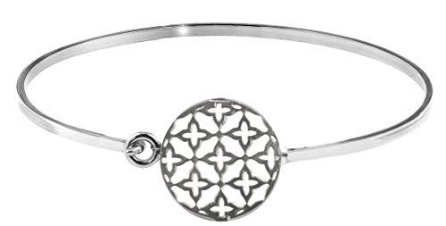 PAPOLY Pulsera Estrellas, Hecho de Plata DE Ley 925 uno de los símbolos más Populares en Moda de joyería con Caja de Regalo. (Rayos Sol)