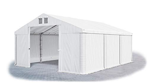 Das Company Lagerzelt 4x6m wasserdicht weiß Zelt 560g/m² PVC Plane hochwertig Zelthalle Summer SD
