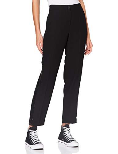 Armani Exchange Womens Crepe with Shiny Sequins Pants, Black, 0