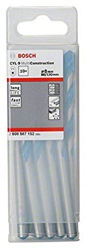 Bosch Professional Mehrzweckbohrer CYL-9 Multi Construction (10 Stück, Ø 8 mm)