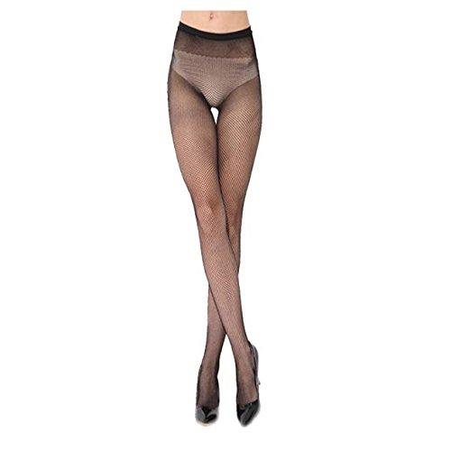 COOLLL Medias de malla sexy para mujer, medias de malla de alta cintura, medias de malla cruzada, medias para mujer, tamaño libre