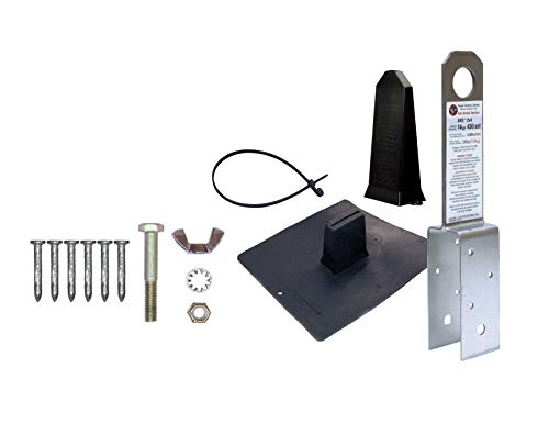 2830 Super Anchor Safety ARS 2x4 Fall Arrest Anchor Kit, Stainless Steel, 14 Gauge