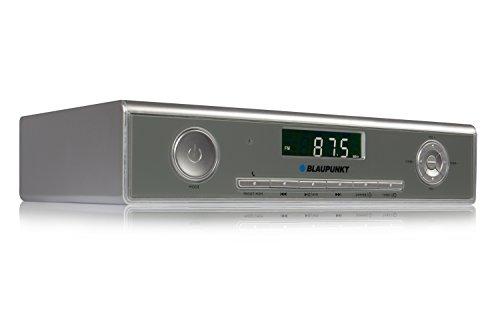 Blaupunkt Audio KRB 20 SV. Unterbaufähiges Küchenradio mit Bluetooth und integriertem Standfuß; Silber