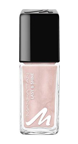 Manhattan Last & Shine Nagellack – Rosa, glänzender Nail Polish für 10 Tage perfekten Halt – Farbe Ethereal Rose 216 – 1 x 10ml