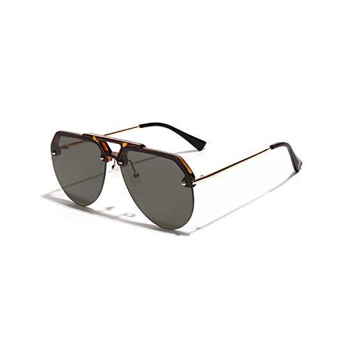 Gafas Deportivas, Pesca Gafas De Golf, Semi-Rimless Sunglasses For Men NEW Half Frame Red Black Yellow Sun Glasses For Women Retro Metal Frame Uv400