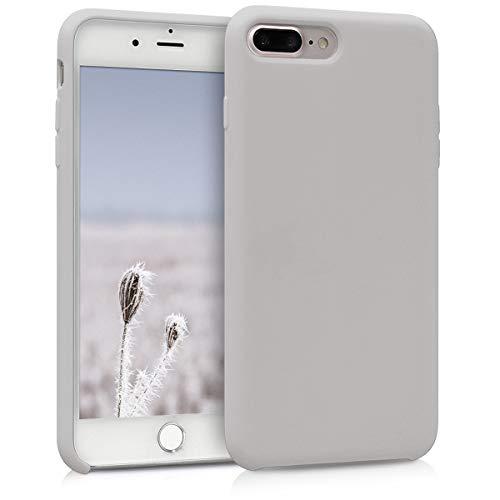 kwmobile Funda Compatible con Apple iPhone 7 Plus / 8 Plus - Carcasa de TPU para móvil - Cover Trasero en Beige Mate