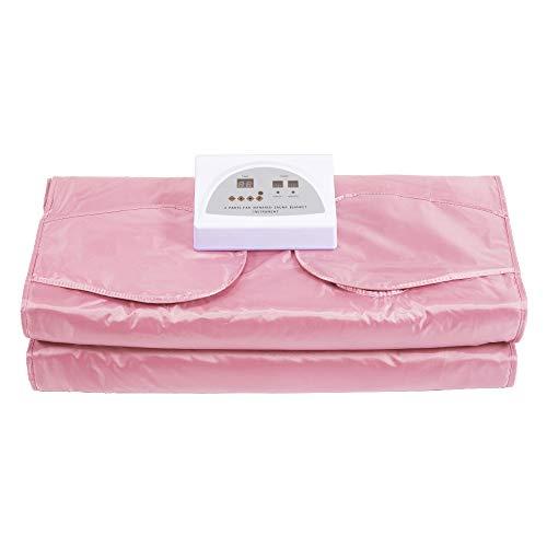 4YANG Infrared Sauna Sauna Blanket Hand-Reachable Design, Smart Remote Control Blanket Sauna Slimming Blanket Sauna Blanket Body Shaper, Used for Weight Loss and Fitness(Free 50pcs Bath Bag)