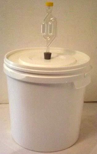Nahrungsmittel-selbermachen Gärbehälter aus lebensmittelechtem Kunststoff in verschiedenen Varianten (12 Liter ohne Ablasshahn)