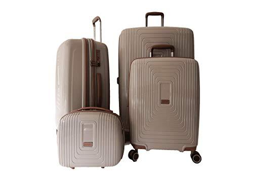LYS 4-delige kofferset, harde schaal, polypropyleen, cosmeticakoffer + koffer + middelgrote koffer + grote koffer 35 cm - 38-45 - 52 cm