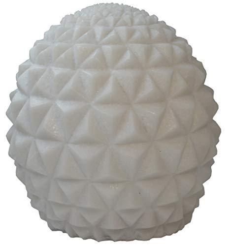 LumiSoul The Yoga - Lámpara LED AAA para interior y exterior, diseño de piedra arenisca, color blanco perla