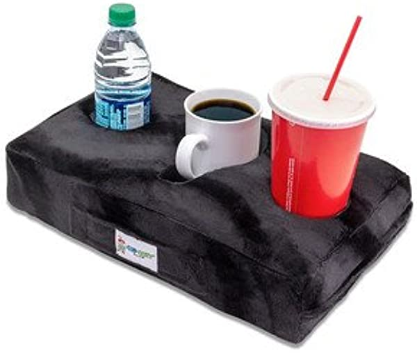 Cup Cozy Pillow Black As Seen On TV The World S BEST Cup Holder Keep Your Drinks Close And Prevent Spills Use It Anywhere Couch Floor Bed Man Cave Car RV Park Beach And More