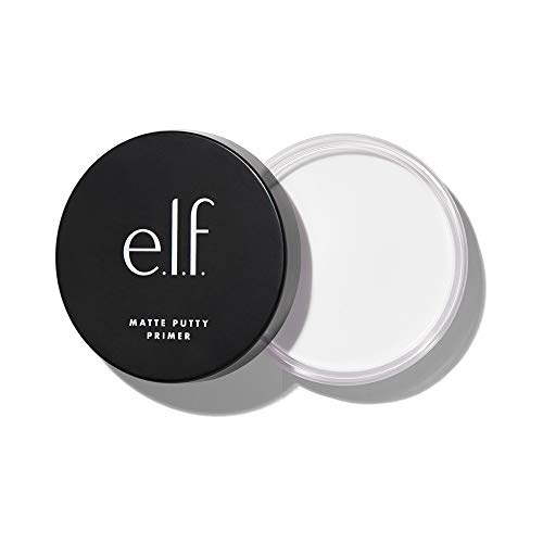 e.l.f, Matte Putty Primer, Skin Perfecting, Lightweight, Oil-free formula, Mattifies, Absorbs Excess Oil, Fills in Pores and Fine Lines, Soft, Matte Finish, All-Day Wear, 0.74 Oz