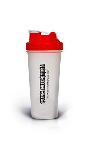 Proteína Power Shaker Blender Mix Bottle Cómodo Confiable Alta calidad Sin BPA Bola de Metal Gimnasio Fitness Culturismo Almacenamiento Proteína Polvo Cápsulas Extensión|400 ml y 600 ml (600 ml)