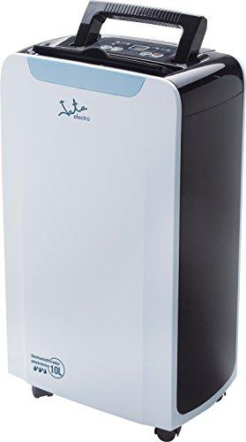 Jata DH997 Deshumidificador electrónico con Temporizador, silencioso, 210 W, 1.5 litros, 2 Velocidades, Blanco con Detalles en Negro