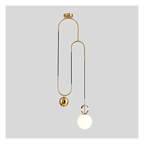 Lámpara de araña, moderna personalidad y creatividad, barra de noche, diseño de bolas de cristal, clase energética A +] (color: luz cálida)