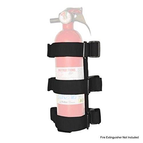 Hooke Road Black Roll Bar Fire Extinguisher Holder for 2007-2021 Jeep JK JL Wrangler & Unlimited Sport Sahara Rubicon
